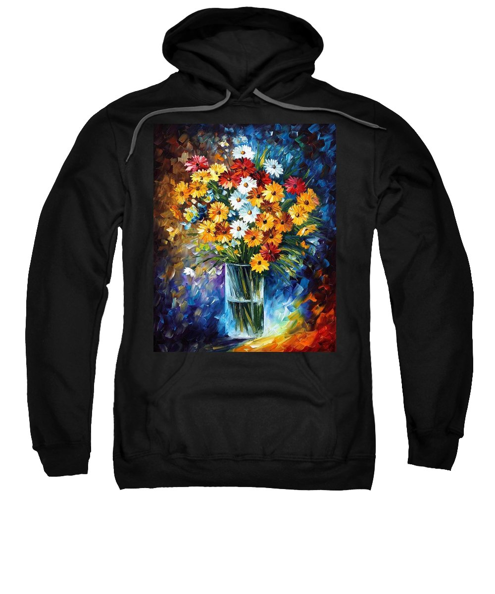 Afremov Sweatshirt featuring the painting Morning Charm by Leonid Afremov
