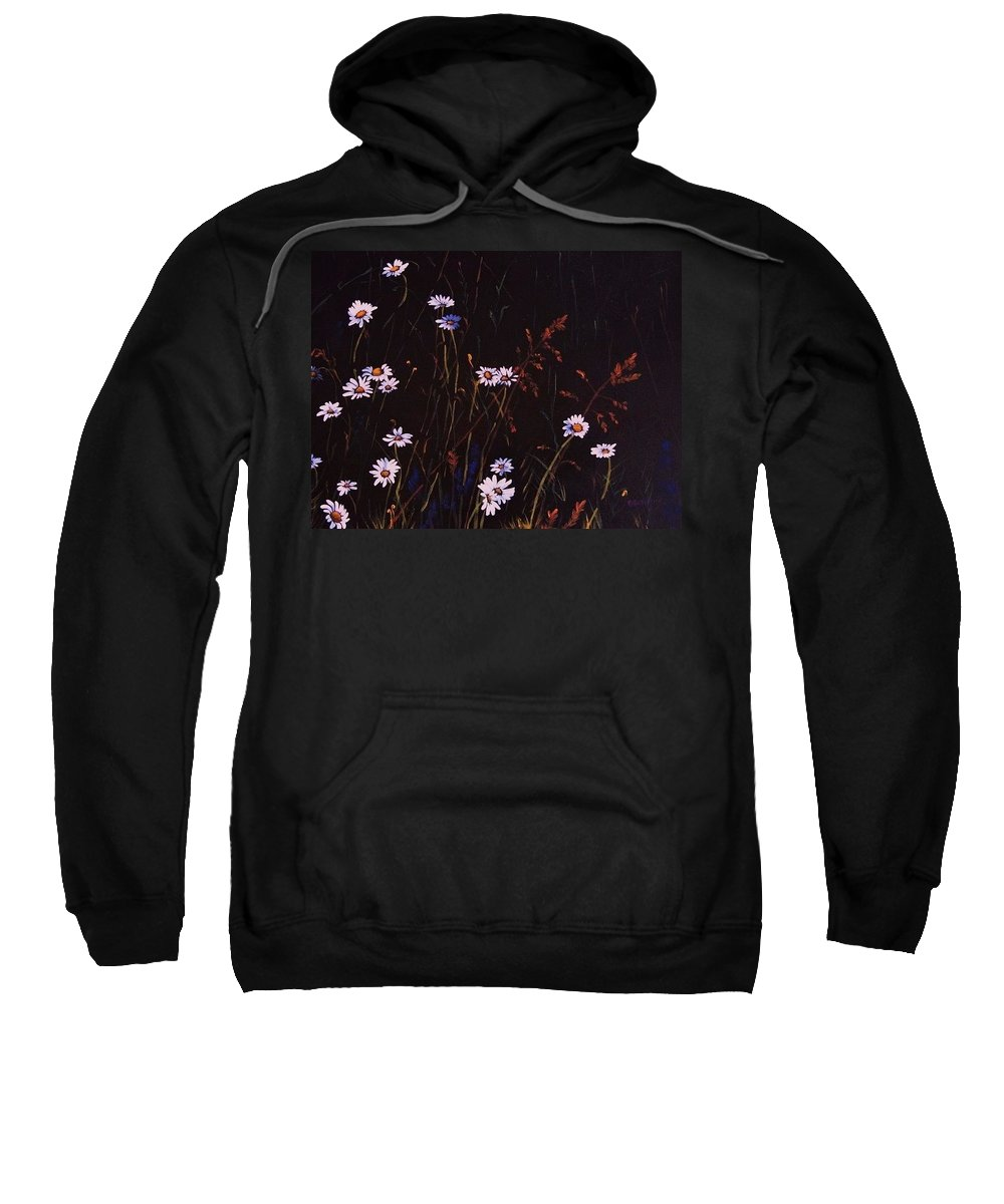 Acrylic Sweatshirt featuring the painting Morning Daisies by Deahn   Benware