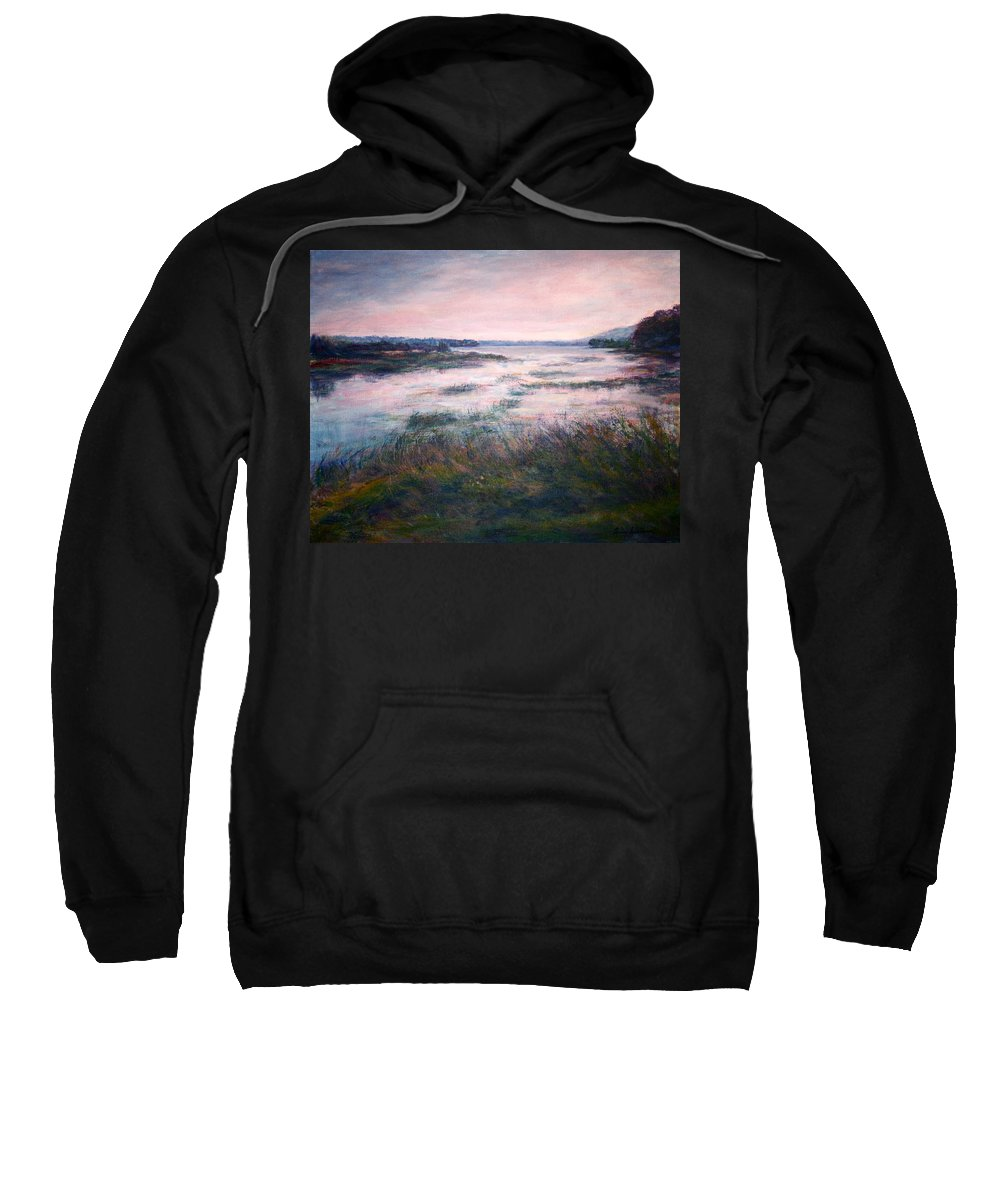Water Sweatshirt featuring the painting Morning Glow by Quin Sweetman