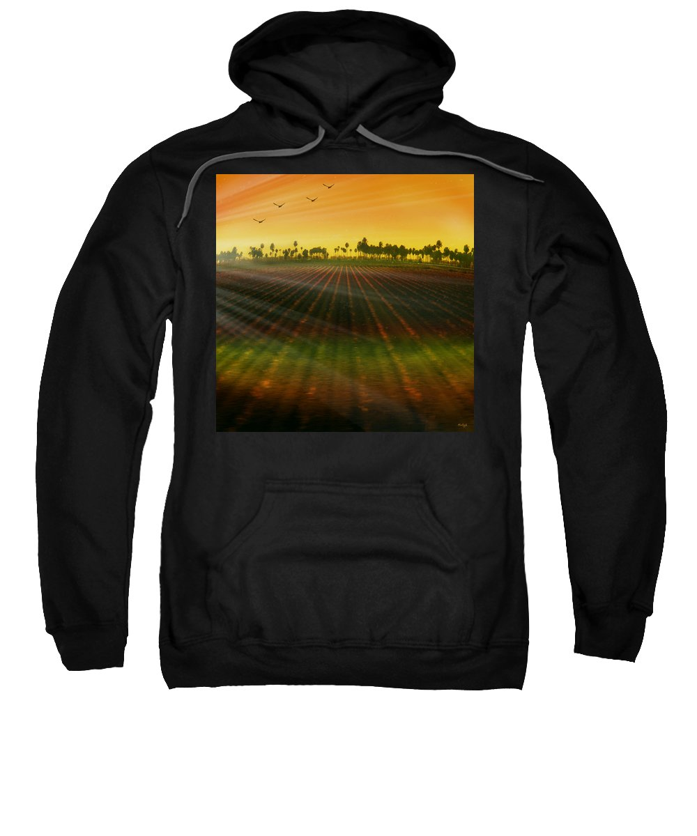 Landscape Sweatshirt featuring the photograph Morning Has Broken by Holly Kempe