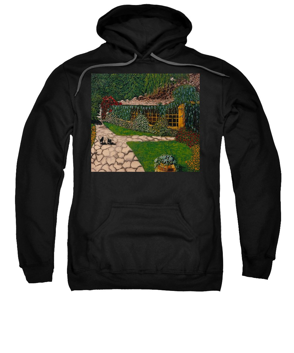 European Sweatshirt featuring the painting Morning Walk by V Boge