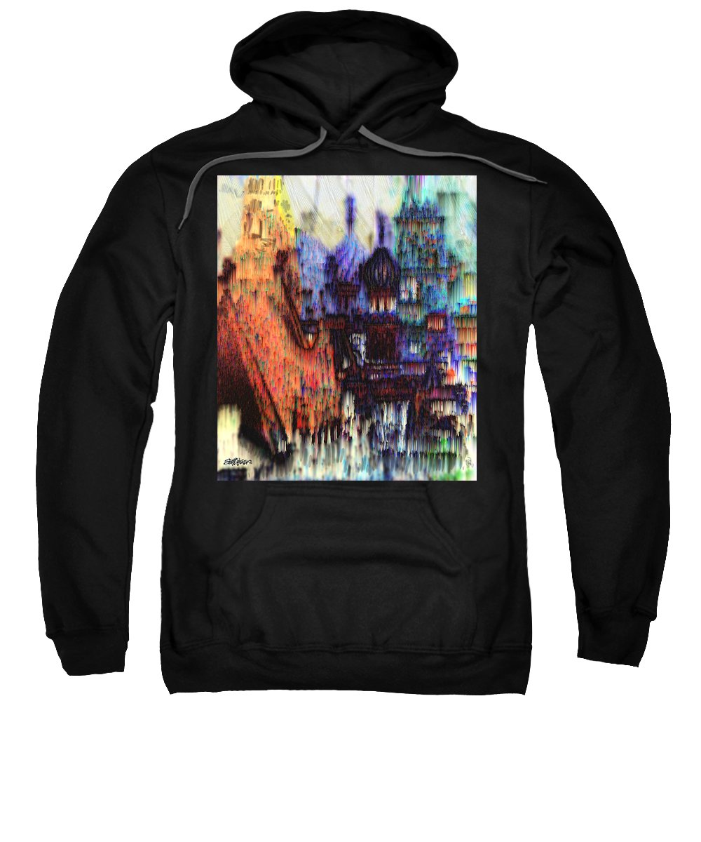 Fog Sweatshirt featuring the digital art Moscow In The Rain by Seth Weaver