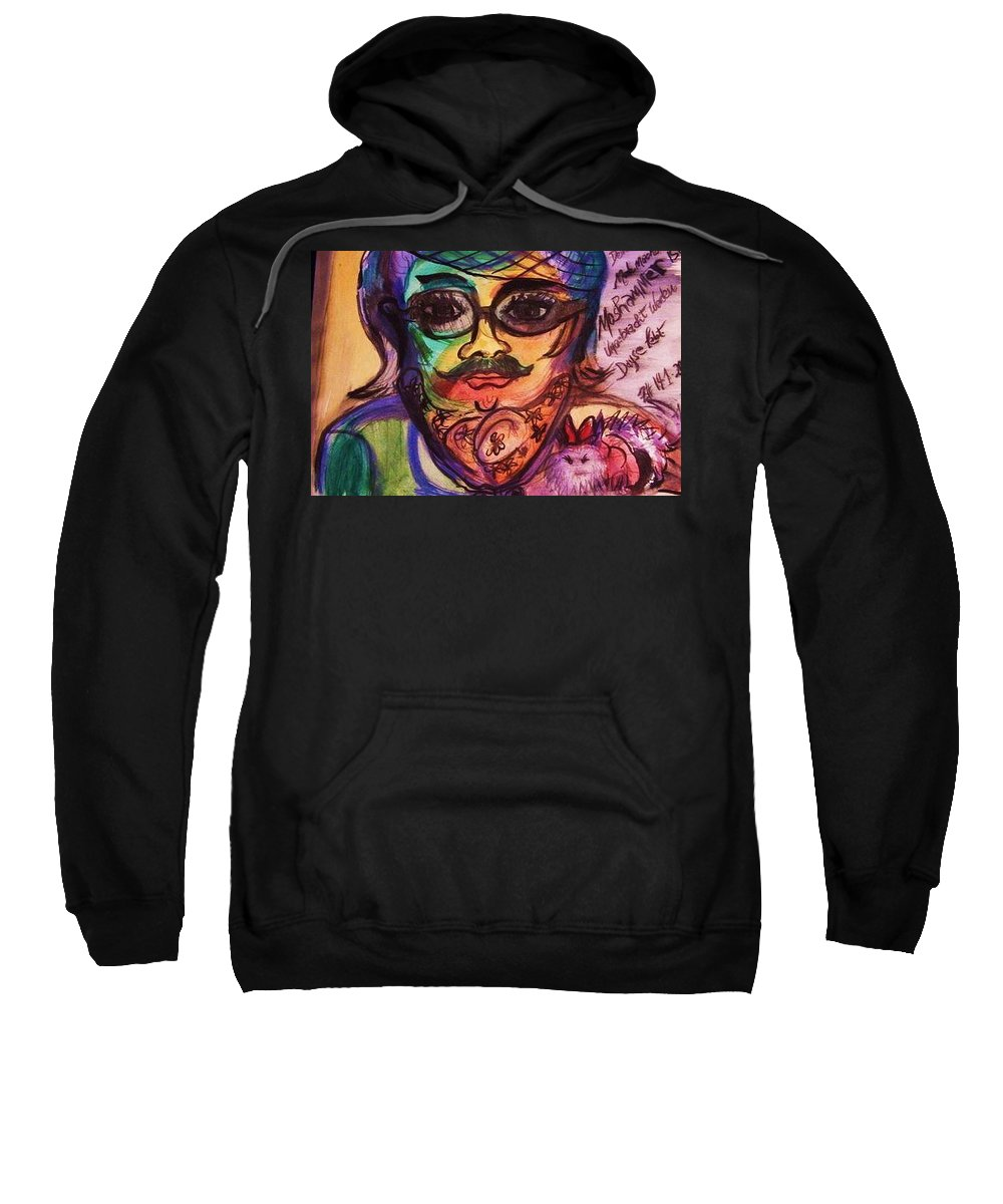 Moshammer Sweatshirt featuring the painting Moshammer And Dayse by Nila Poduschco