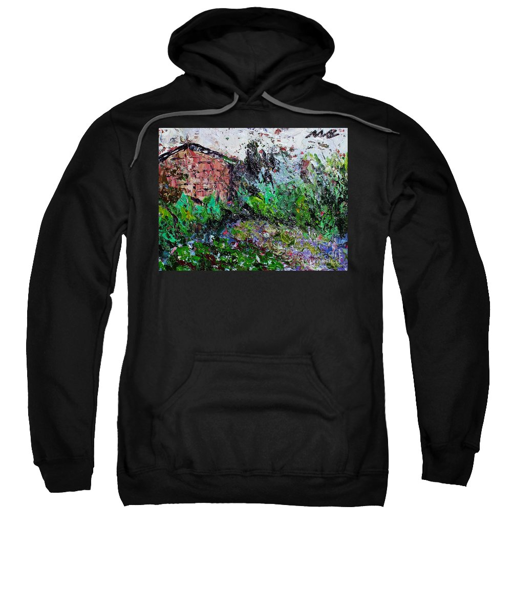 Garden Paintings Sweatshirt featuring the painting Mother by Seon-Jeong Kim