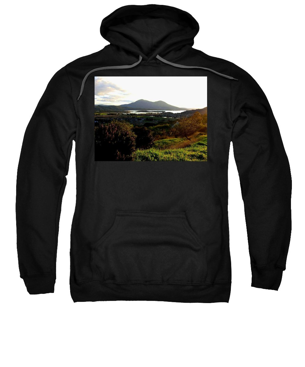 Mount Konocti Sweatshirt featuring the photograph Mount Konocti by Will Borden