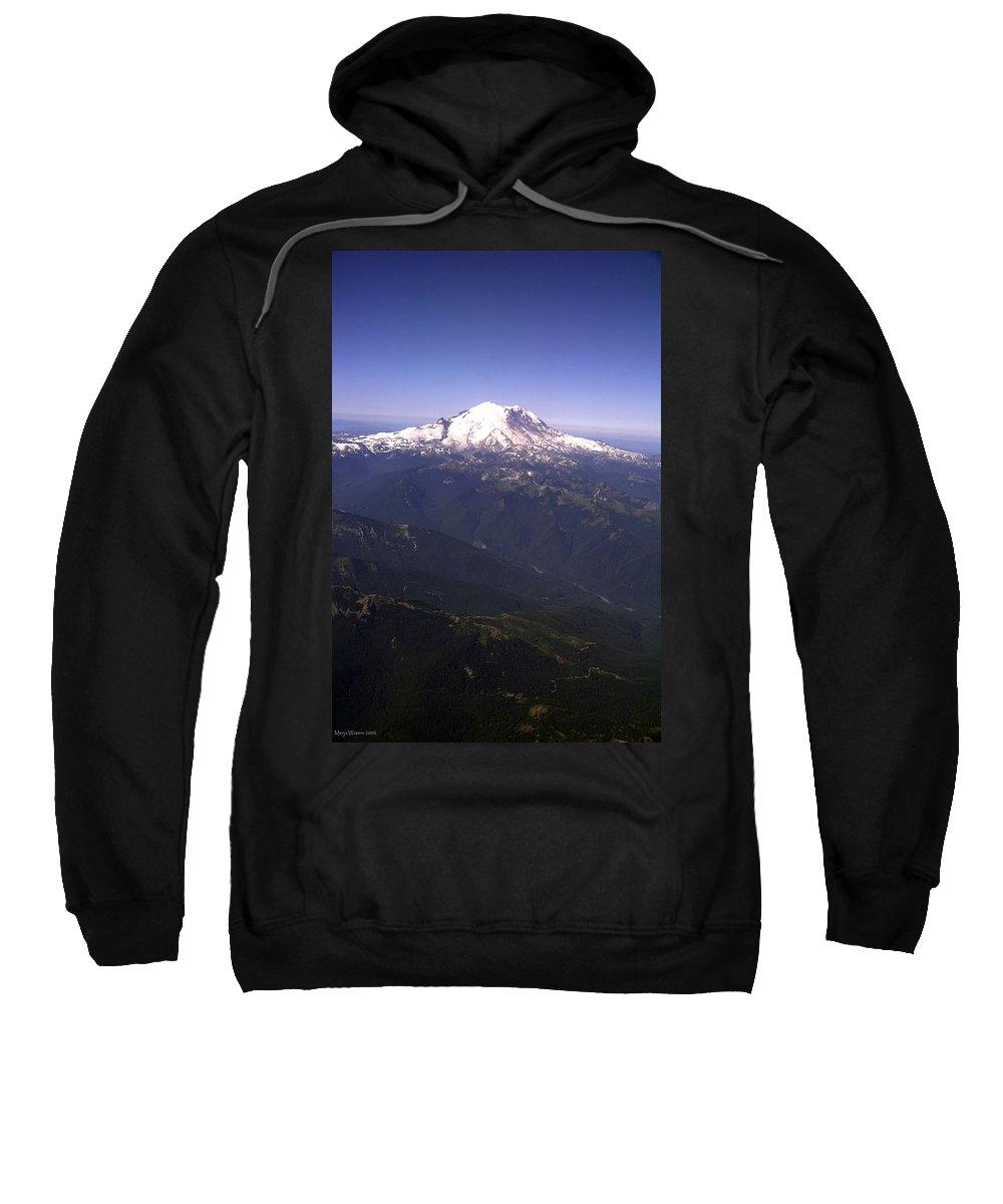 Mount Rainier Sweatshirt featuring the photograph Mount Rainier Washington State by Merja Waters