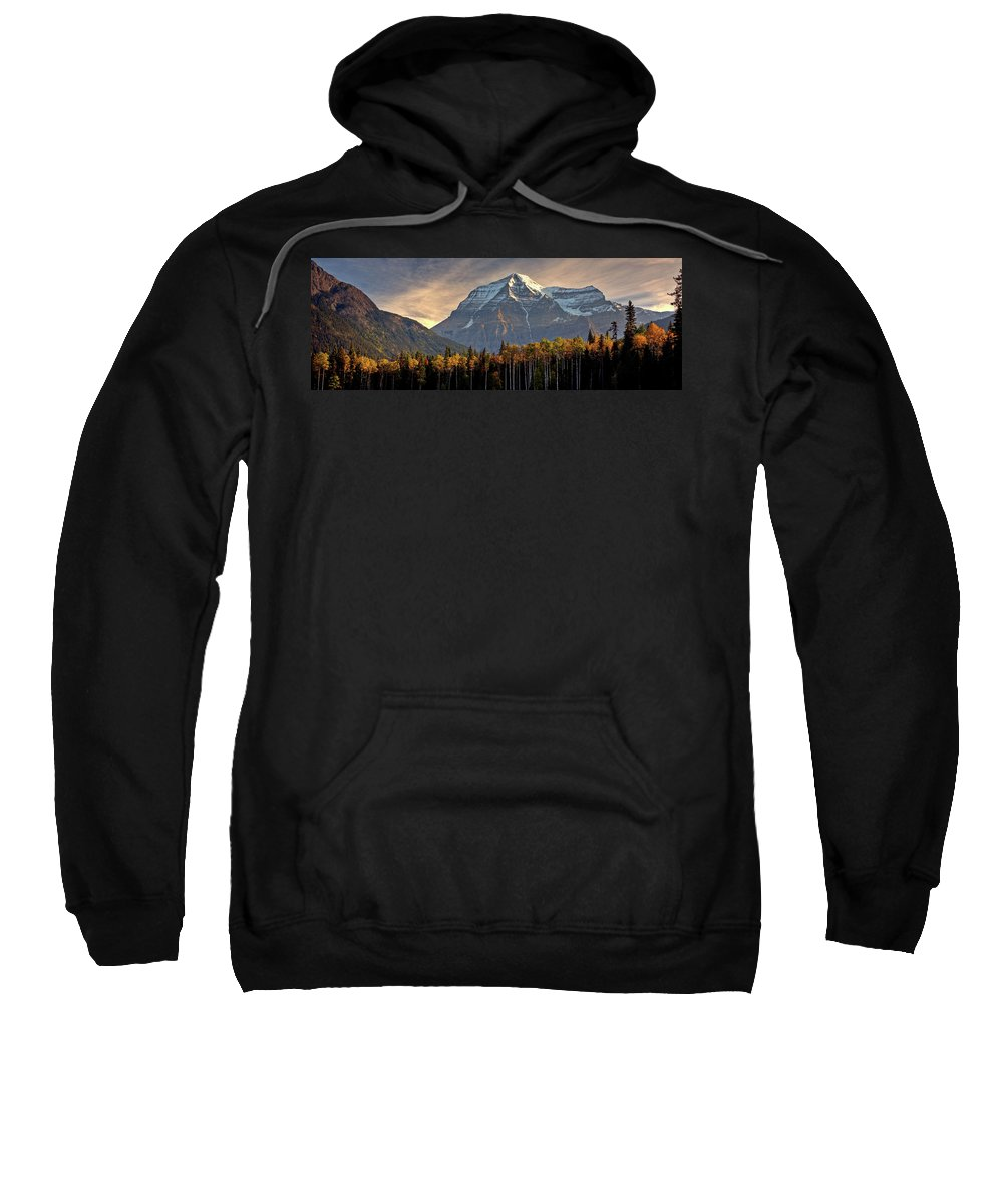 Sweatshirt featuring the digital art Mount Robson by Mark Duffy