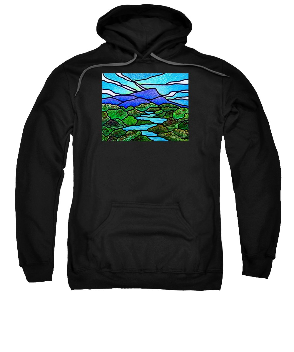 Paintings Sweatshirt featuring the painting Mountain Glory by Jim Harris