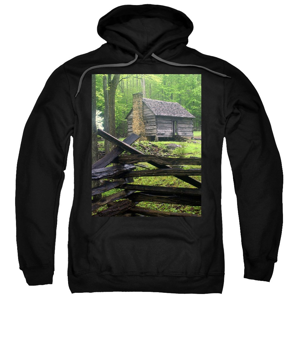 Smokey Mountain National Park Sweatshirt featuring the photograph Mountain Homestead by Marty Koch