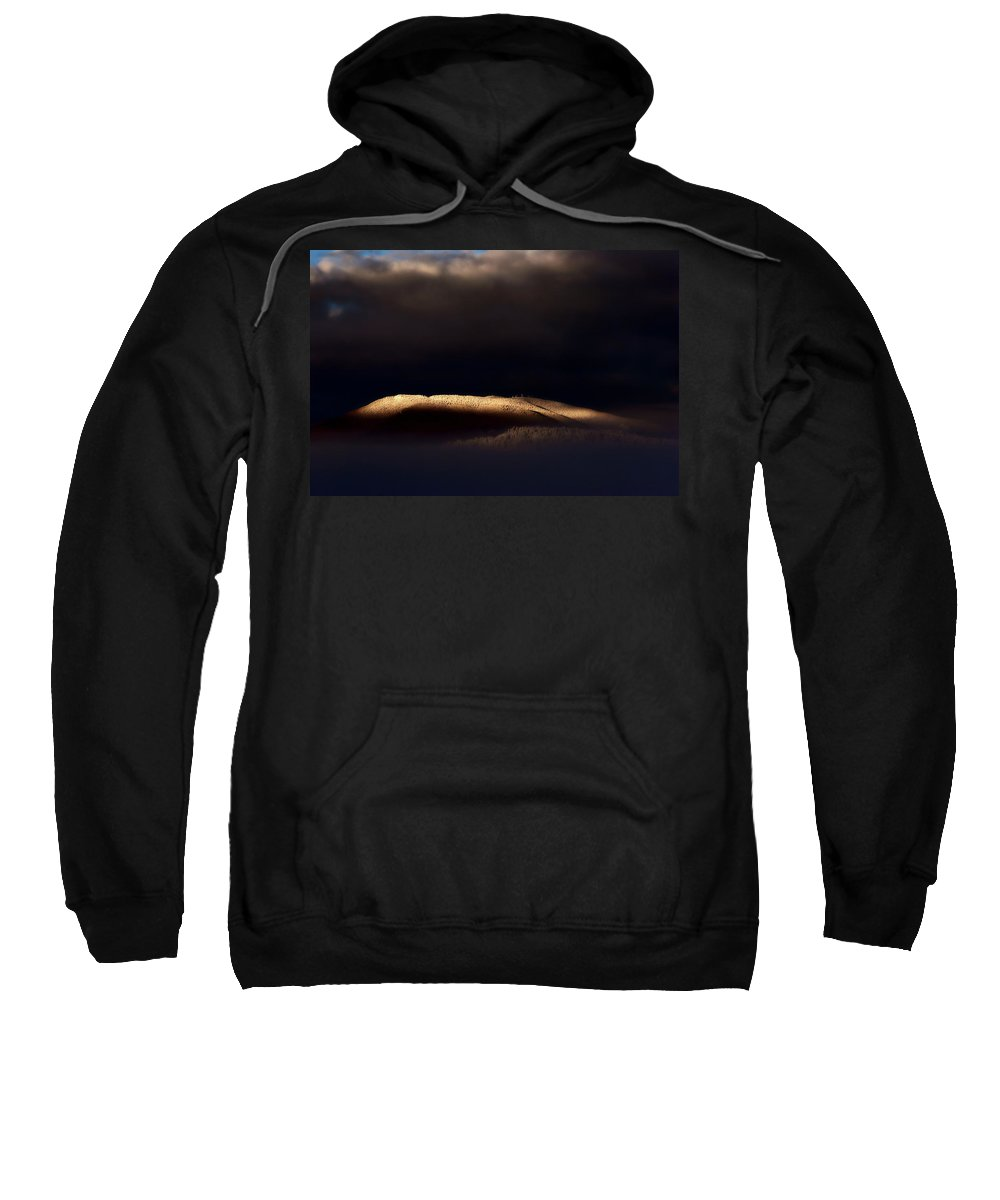 Sunrise Sweatshirt featuring the digital art Mountain Morning Light by Mark Duffy