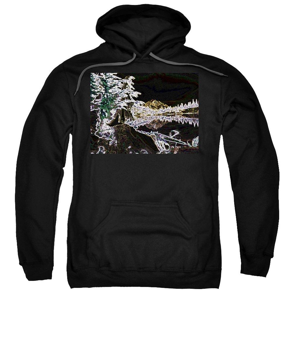 Mount Rainier Sweatshirt featuring the photograph Mountain Reflects by Tim Allen