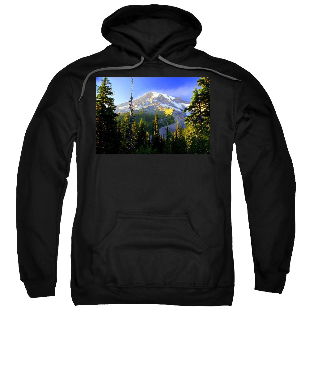 Mountain Sweatshirt featuring the photograph Mountain Sunset by Marty Koch