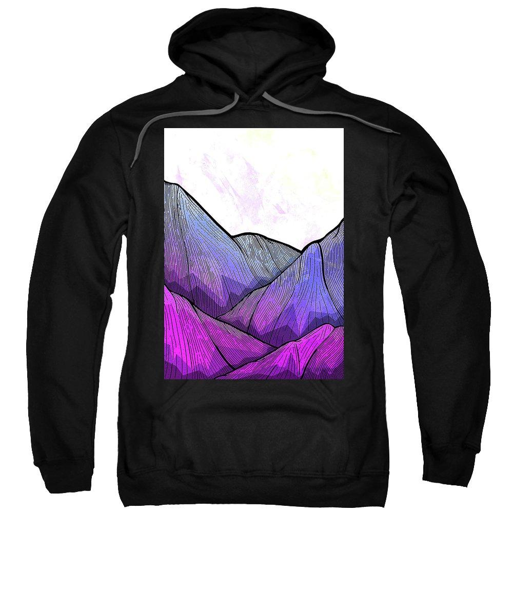 Mountain Sweatshirt featuring the digital art Mountain Texture by Dewi Ranjang