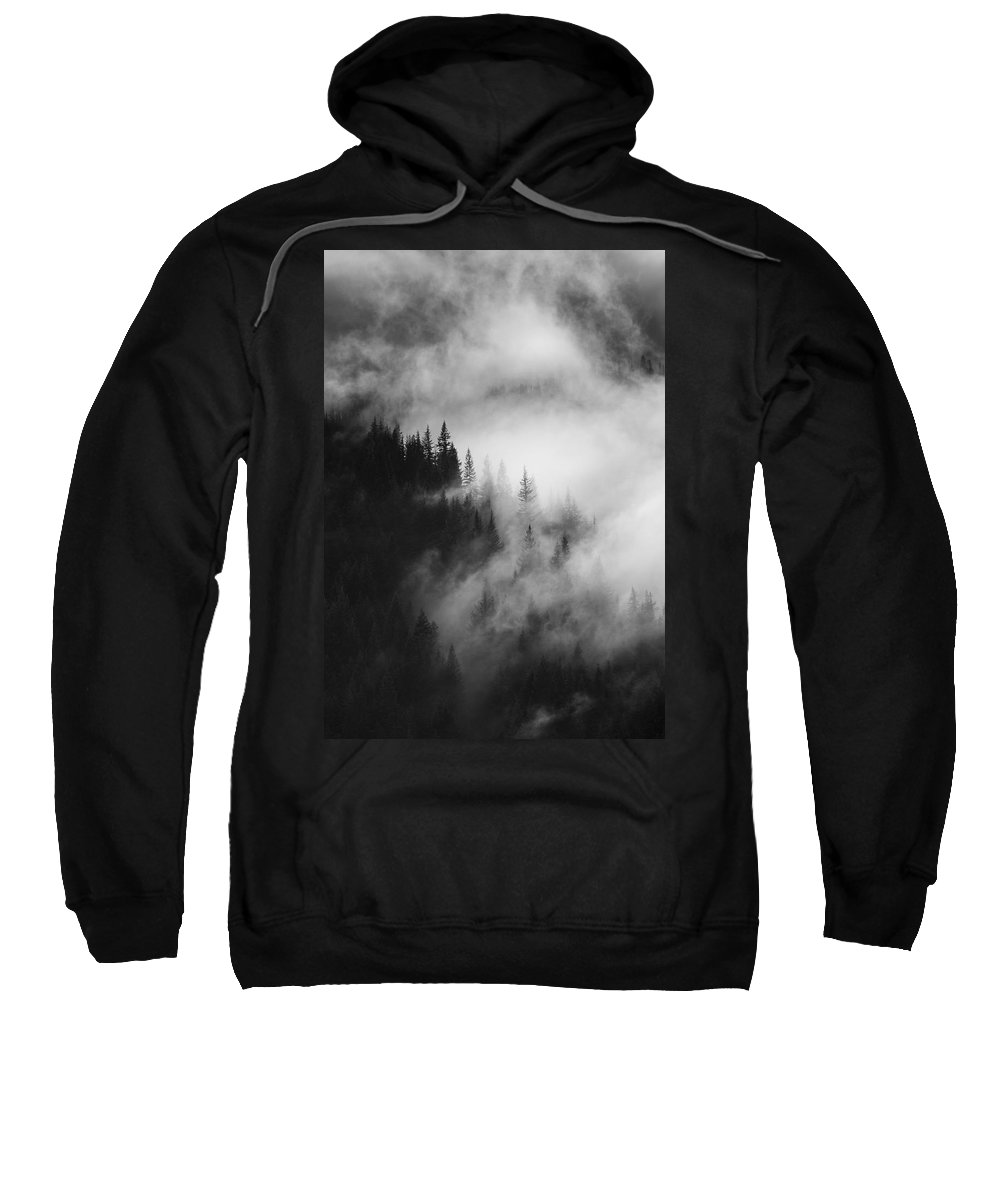 Forest Sweatshirt featuring the photograph Mountain Whispers by Mike Dawson