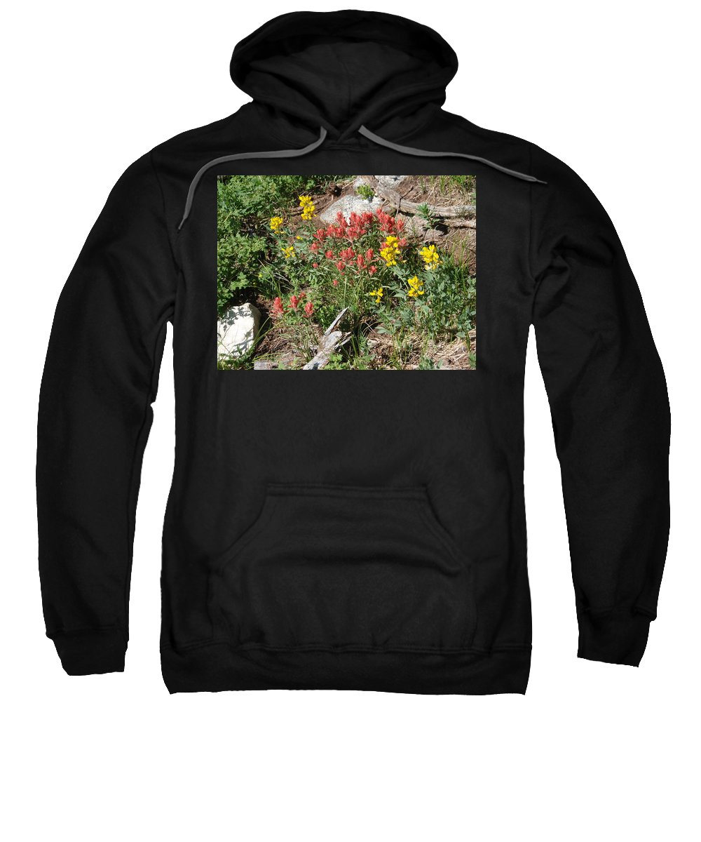 Landscape Sweatshirt featuring the photograph Mountain Wild Flowers by Dennis Boyd