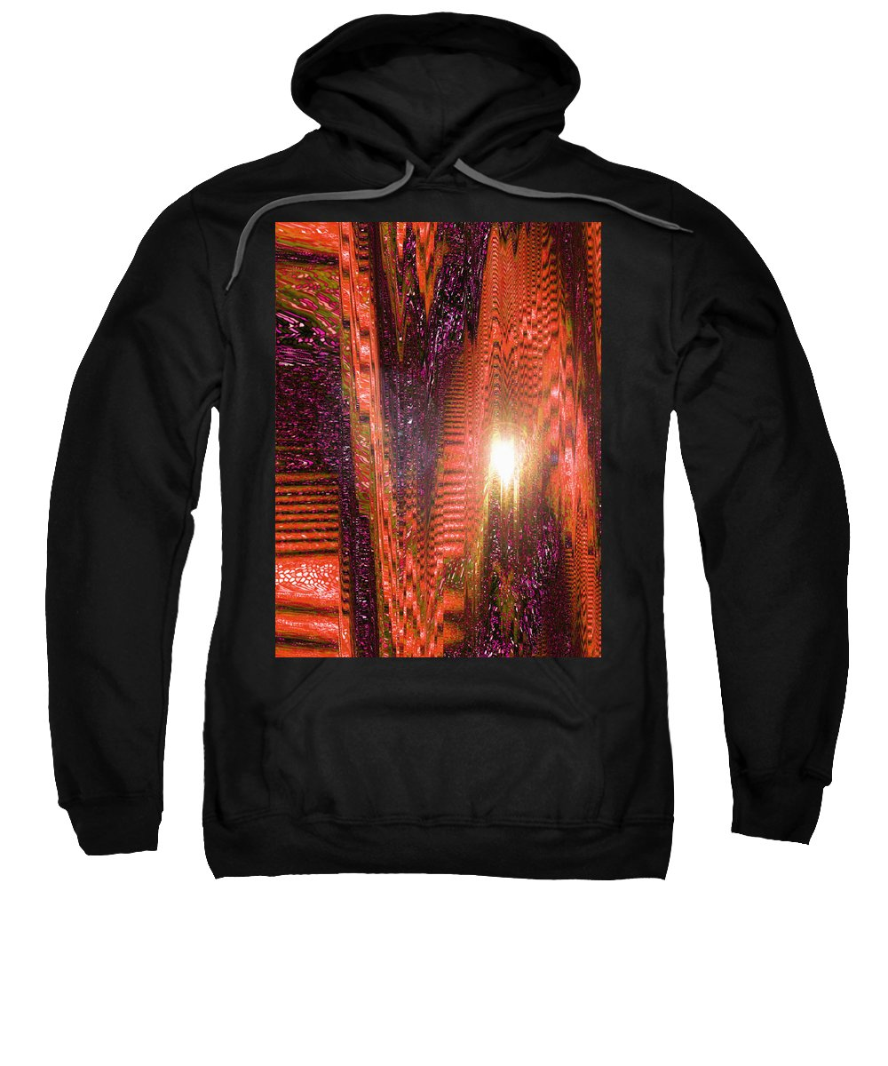 Moveonart! Digital Gallery Sweatshirt featuring the digital art Moveonart Beware Of Worldy Deception by Jacob Kanduch
