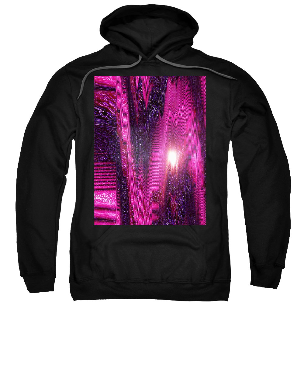 Moveonart! Digital Gallery Sweatshirt featuring the digital art Moveonart Changes Are Shifting Outside The World by Jacob Kanduch