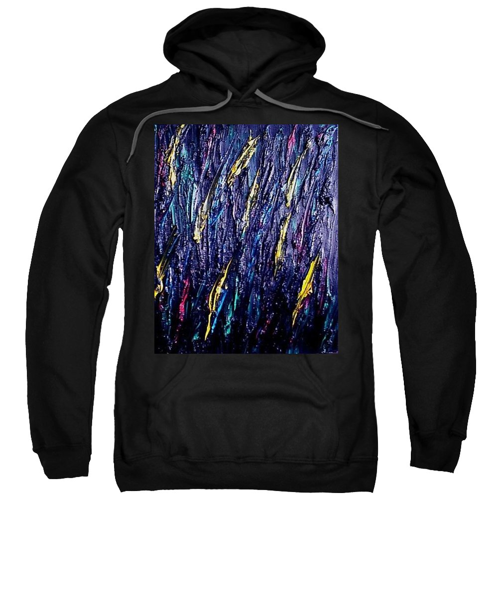 Moveonart! Digital Gallery Sweatshirt featuring the painting Moveonart Colors In The Dark by Jacob Kanduch