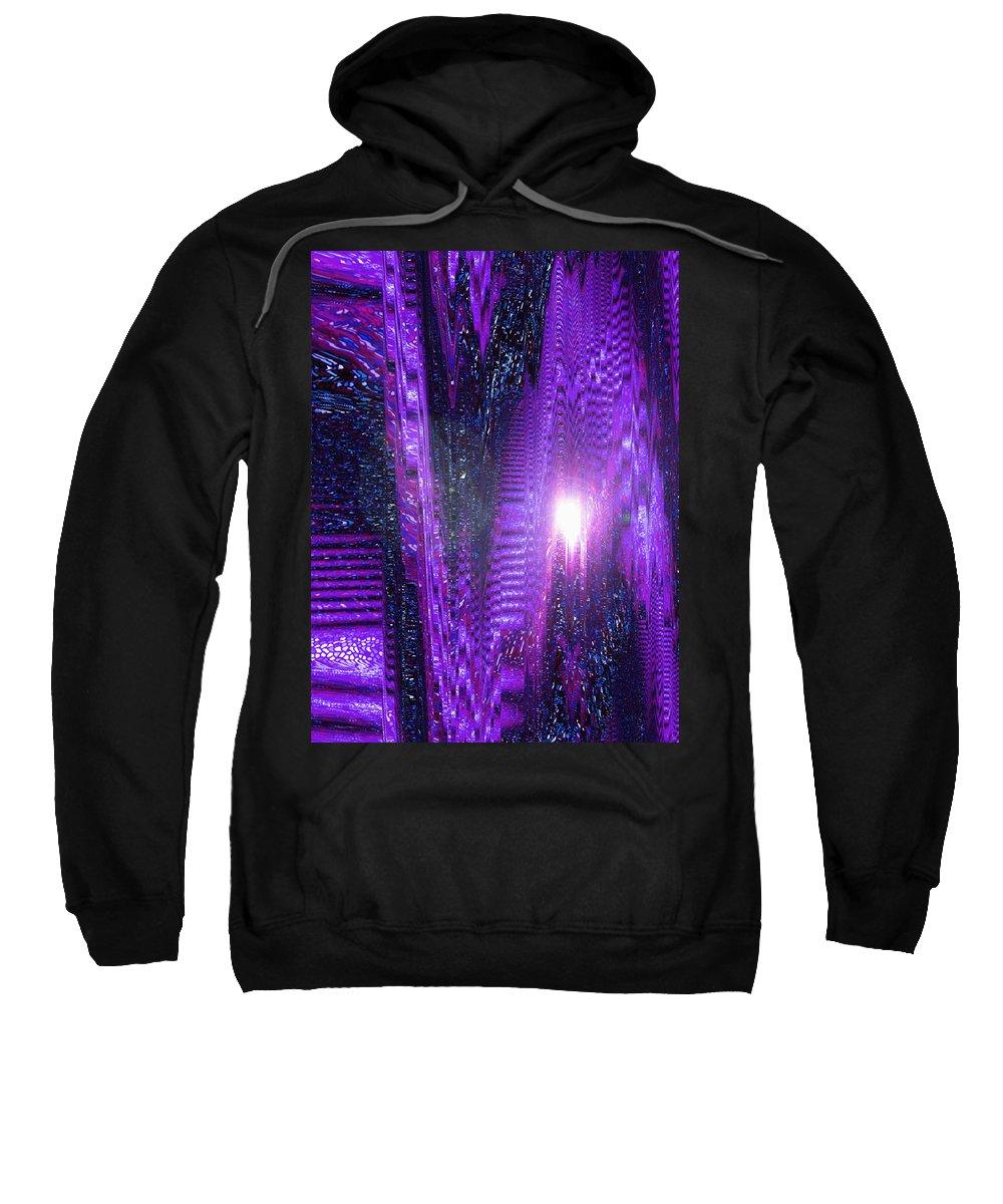Moveonart! Digital Gallery Sweatshirt featuring the digital art Moveonart Dont Worry About Tomorrow by Jacob Kanduch