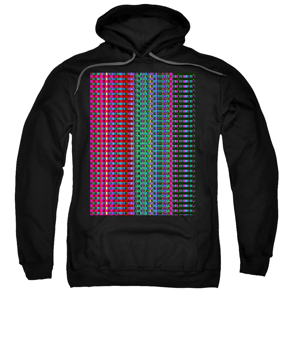 Moveonart! Digital Gallery Sweatshirt featuring the digital art Moveonart Eye Color Therapy One by Jacob Kanduch