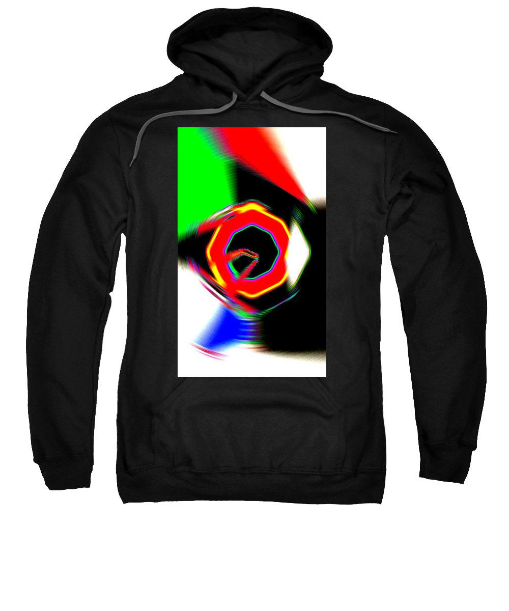 Moveonart! Digital Gallery Sweatshirt featuring the digital art Moveonart Getting In Touch by Jacob Kanduch