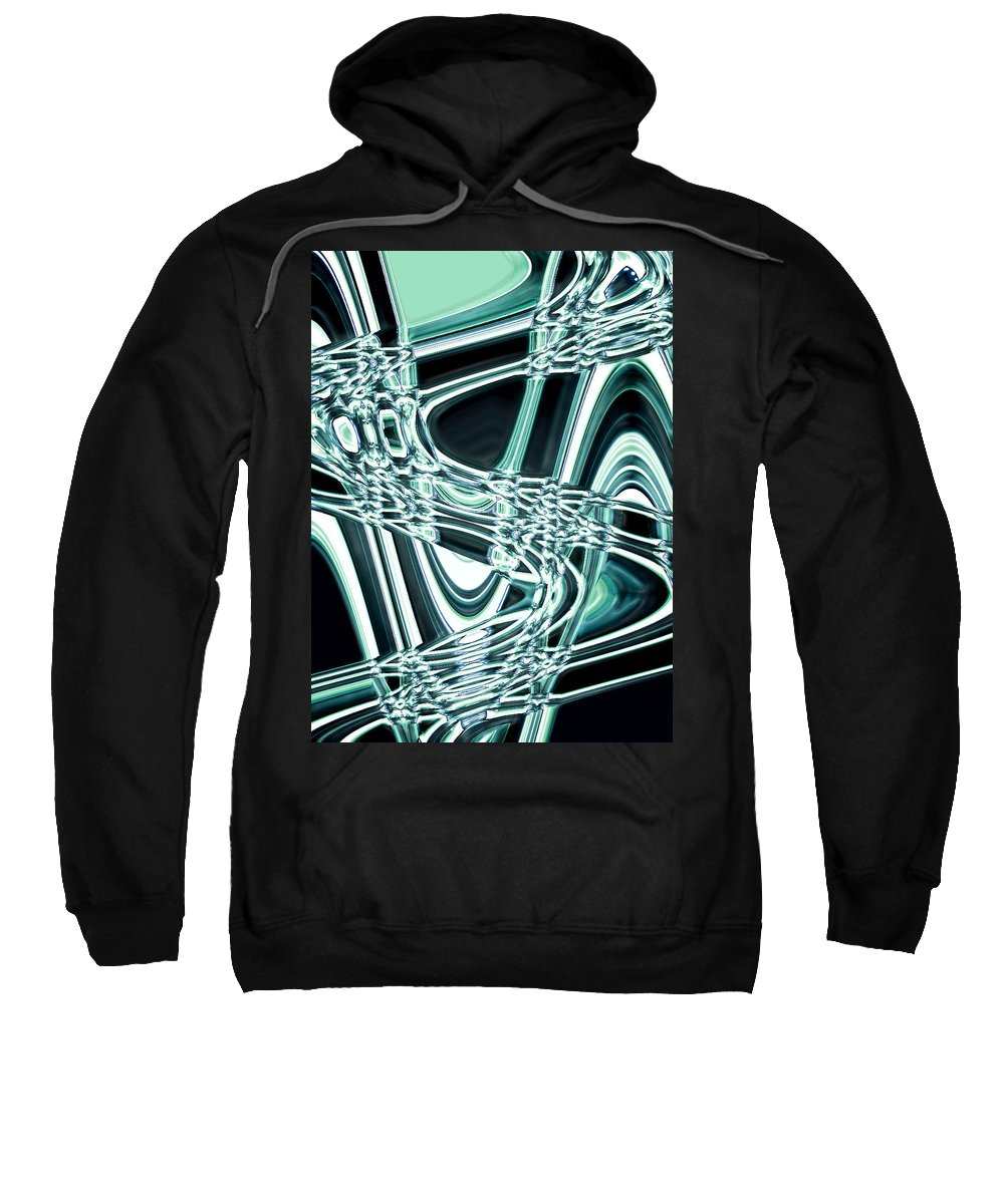 Moveonart! Digital Gallery Sweatshirt featuring the digital art Moveonart Intentionally Abstract Movement by Jacob Kanduch