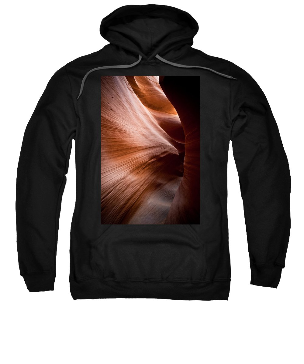 Slot Canyon Sweatshirt featuring the photograph Moving Canyon by Scott Sawyer