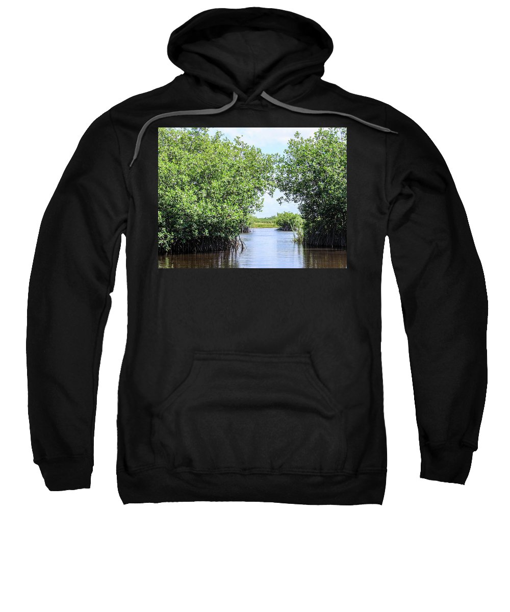 This Is A Photo Of Glades Of Roatan Honduras. Sweatshirt featuring the photograph Moving The Glades Of Roatan by William Rogers