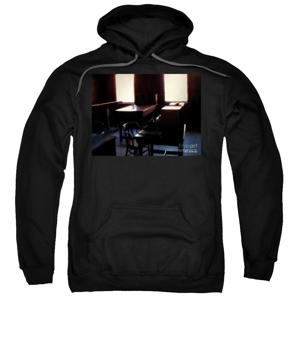 Antiques Sweatshirt featuring the painting Mr. Edison Has Left The Building by RC DeWinter