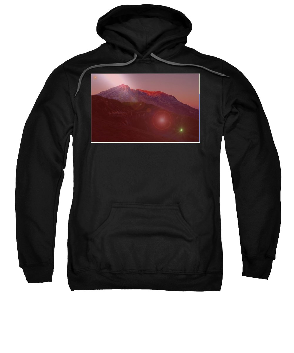 Mountains Sweatshirt featuring the photograph Mt St Helens by Jeff Swan
