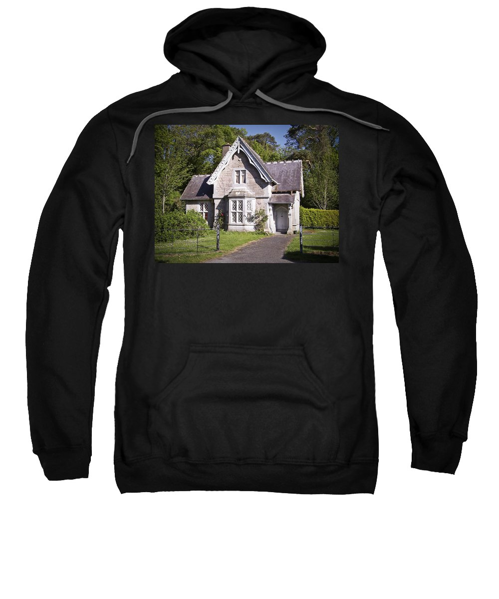 Irish Sweatshirt featuring the photograph Muckross Cottage Killarney Ireland by Teresa Mucha