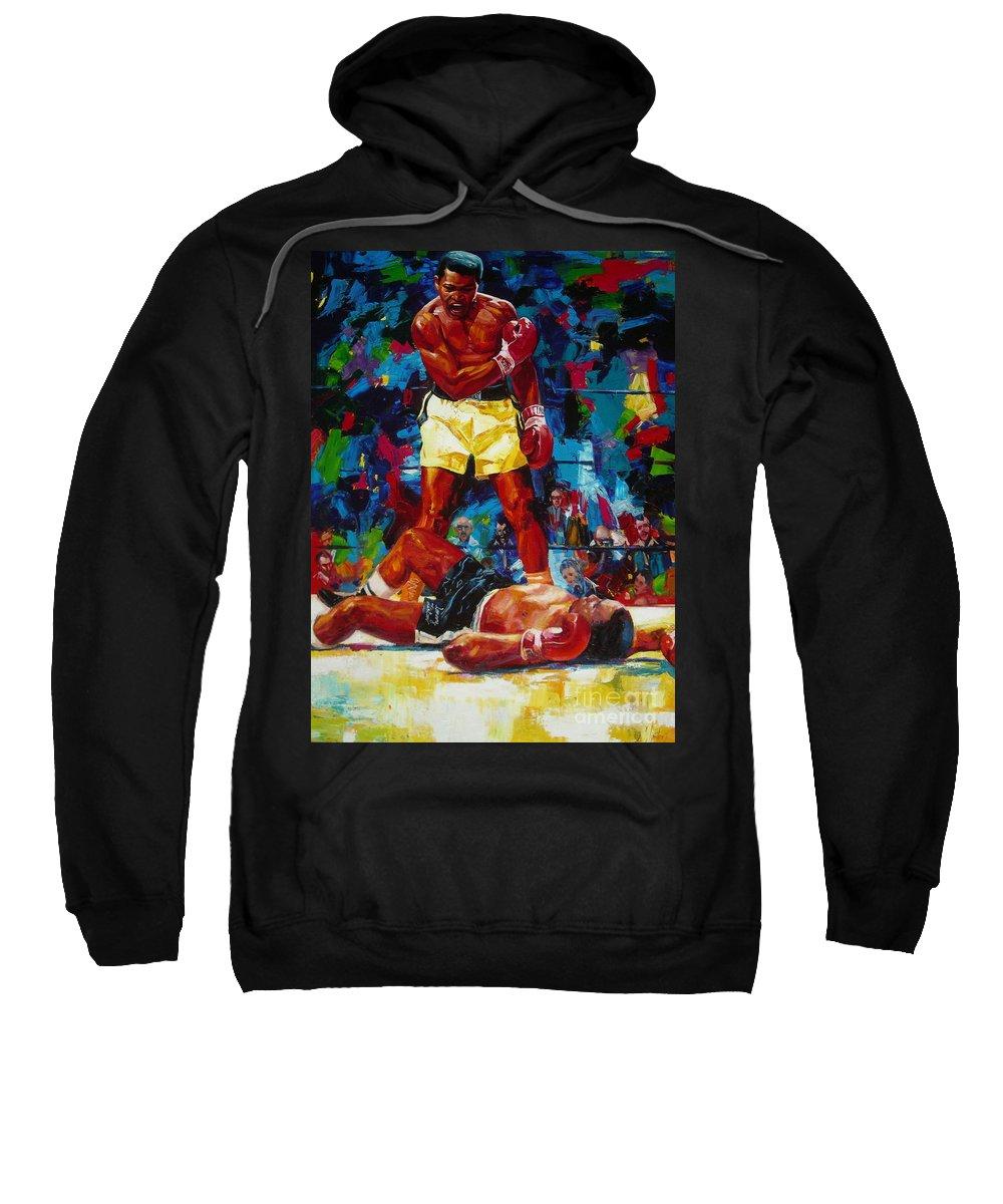 Ignatenko Sweatshirt featuring the painting Muhammad Ali by Sergey Ignatenko