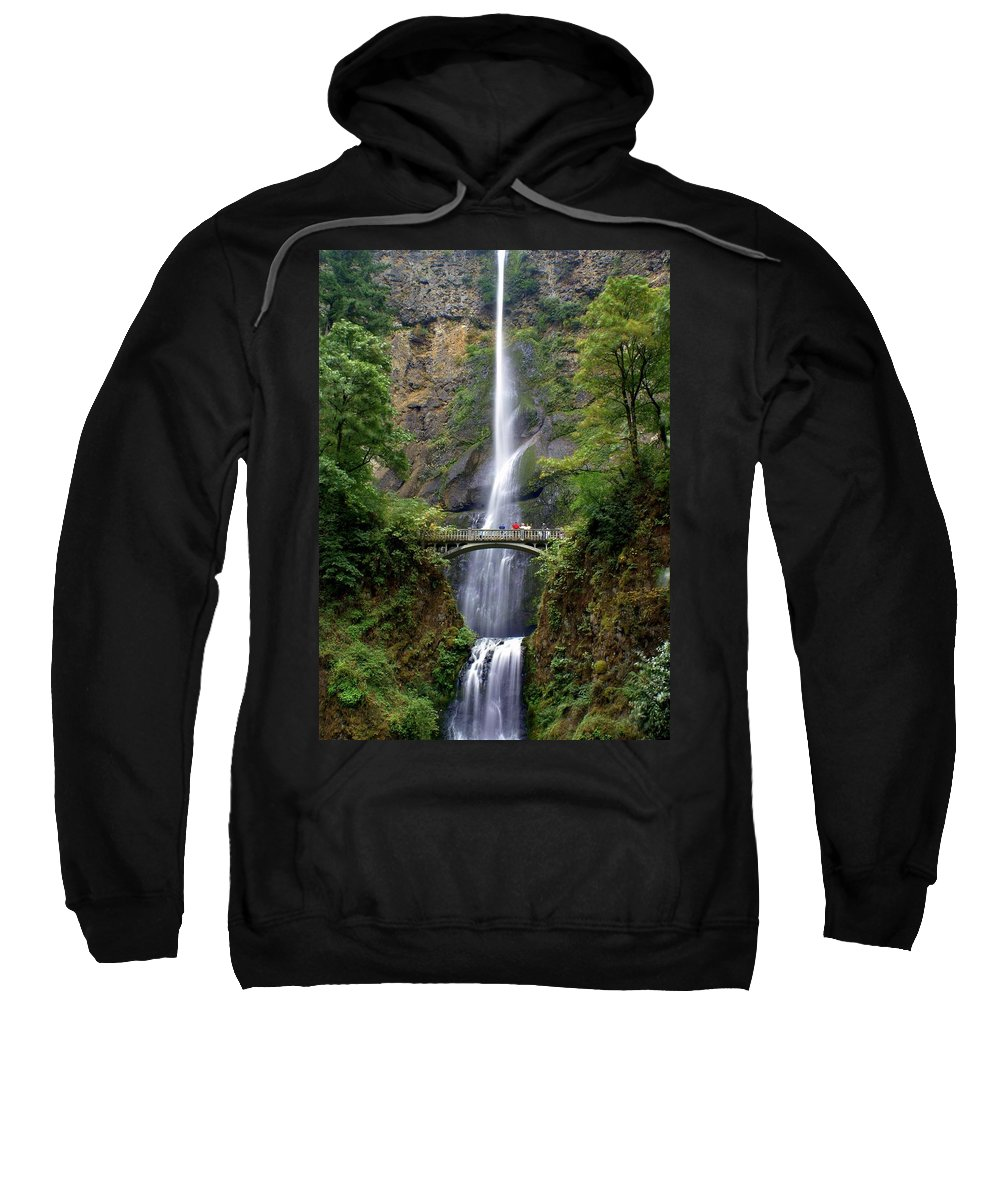 Waterfalls Sweatshirt featuring the photograph Multanomah Falls by Marty Koch