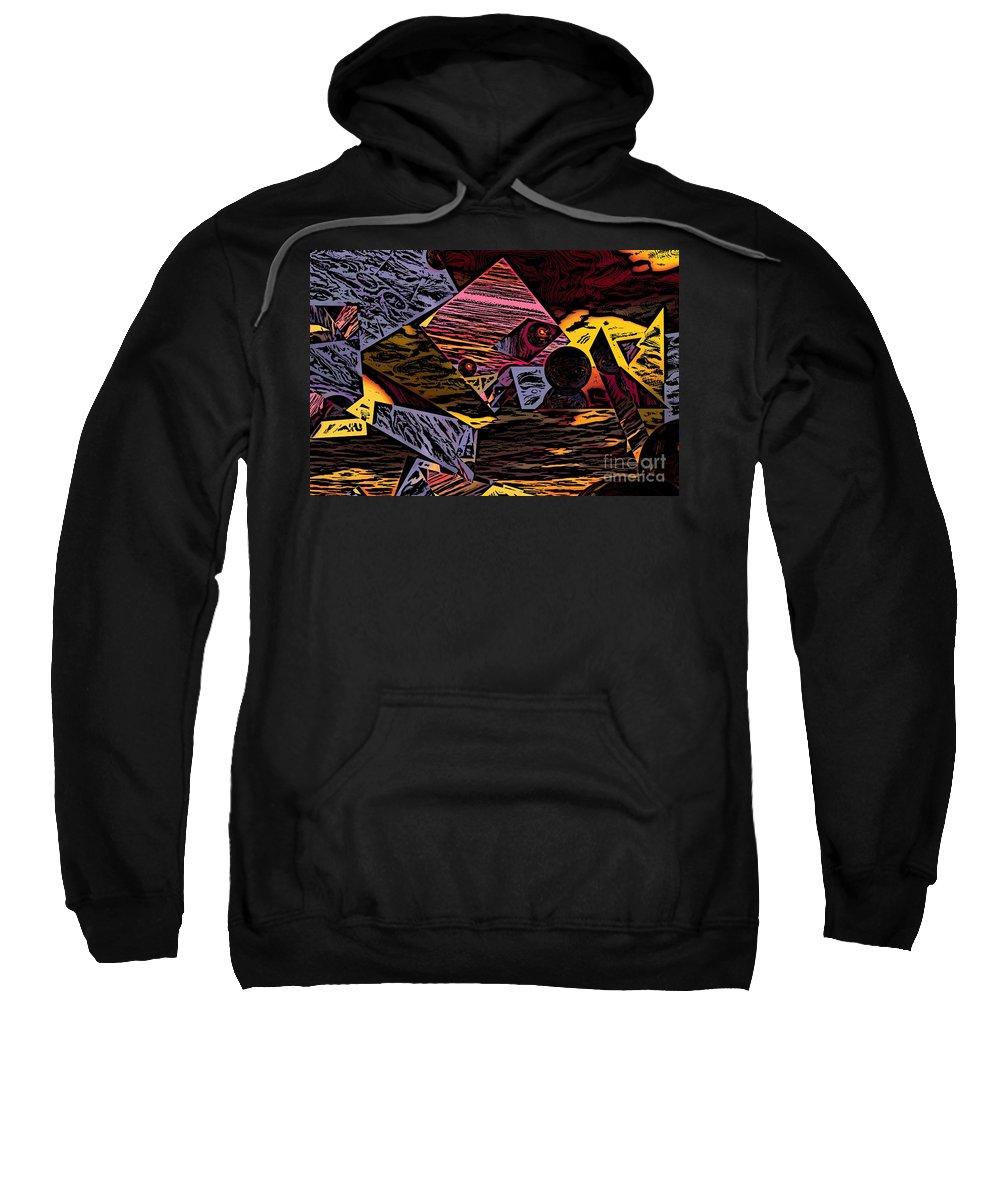 Sweatshirt featuring the digital art Multiverse II by David Lane