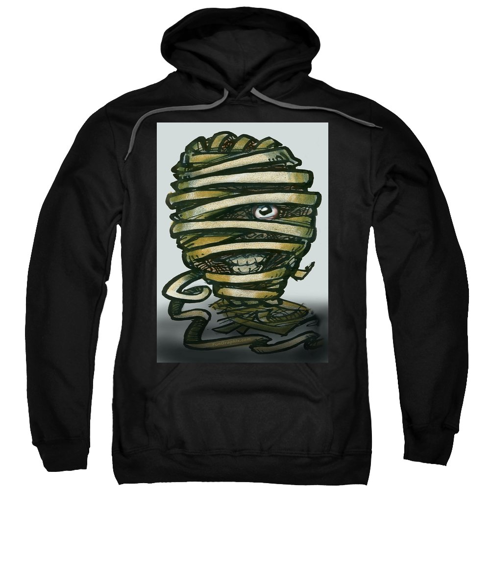 Mummy Sweatshirt featuring the greeting card Mummy by Kevin Middleton