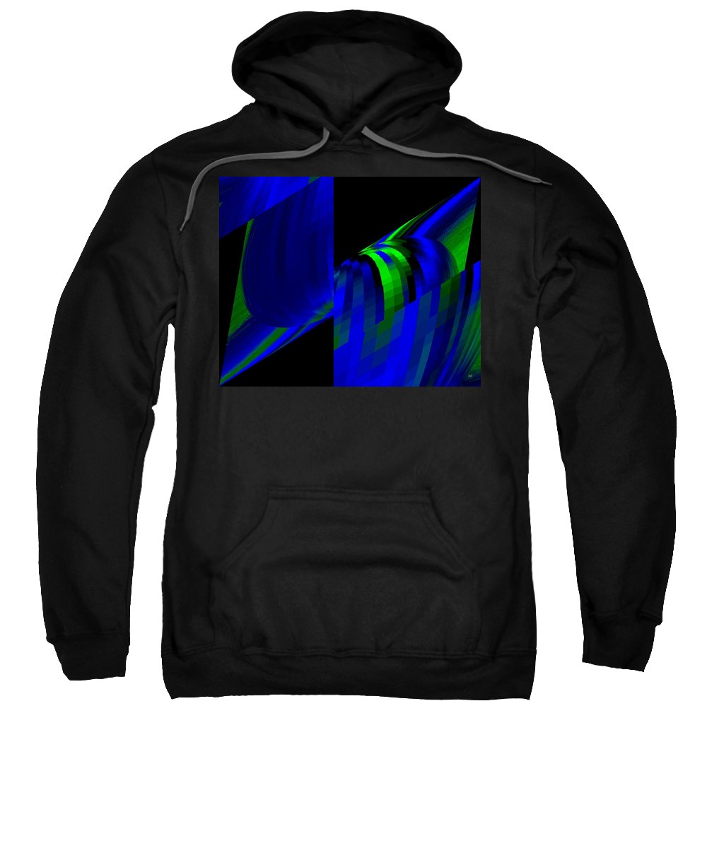 Abstract Sweatshirt featuring the digital art Muse 6 by Will Borden