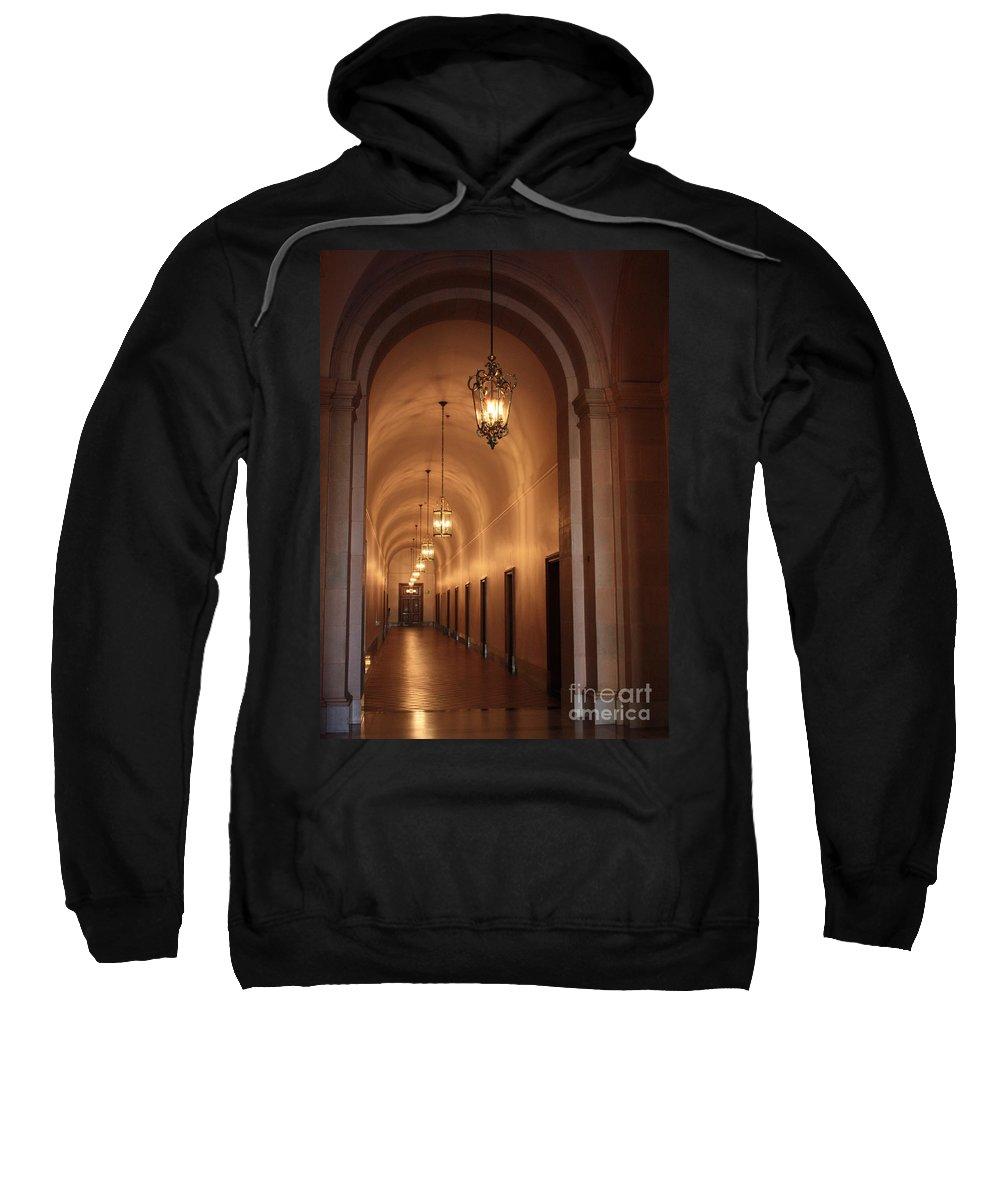 Hallway Sweatshirt featuring the photograph Museum Hallway by Carol Groenen