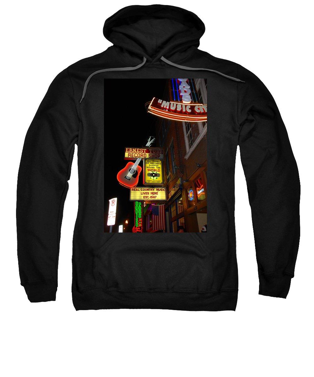 Nashville Sweatshirt featuring the photograph Music City Nashville by Susanne Van Hulst