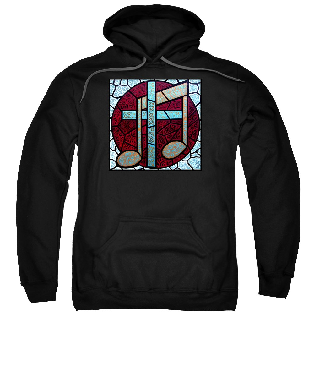 Cross Sweatshirt featuring the painting Music Of The Cross by Jim Harris