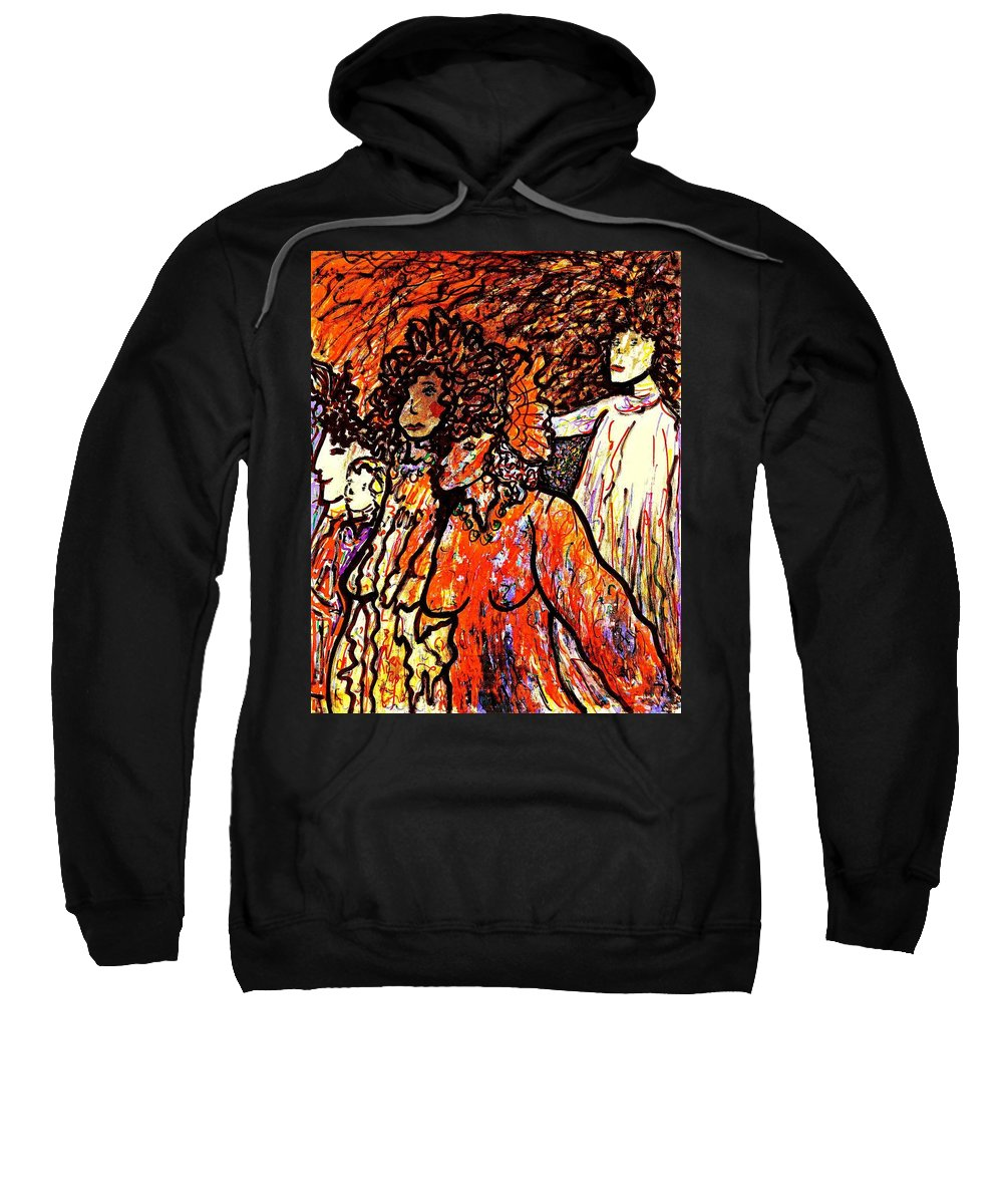 Figurative Art Sweatshirt featuring the painting Musical Recital by Natalie Holland