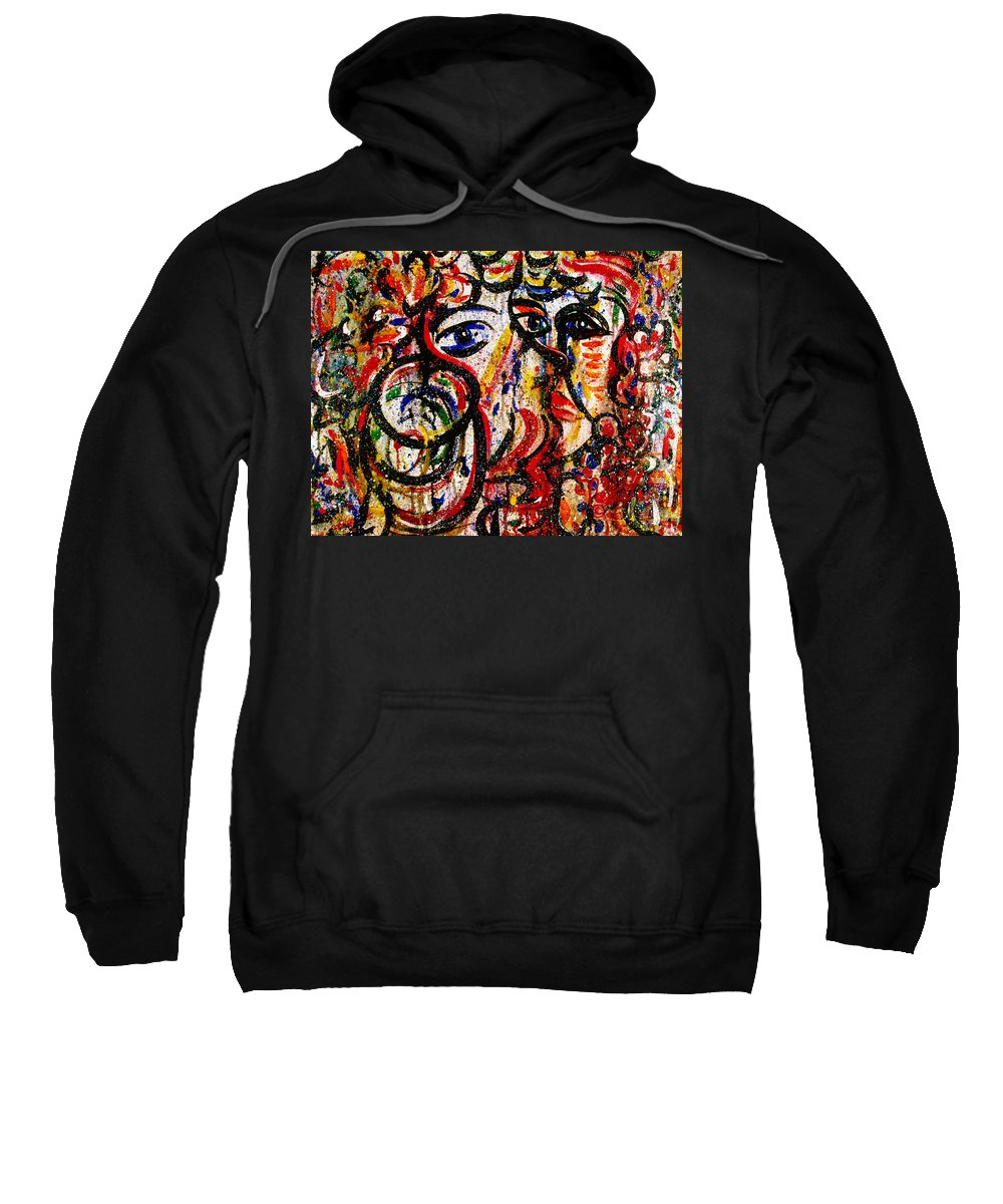 Free Expressionism Sweatshirt featuring the painting Mutual Admiration by Natalie Holland