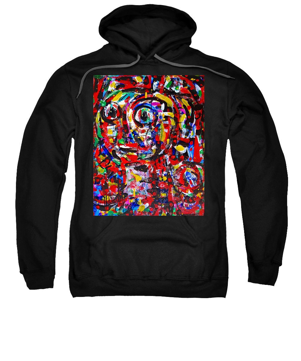 Abstract Sweatshirt featuring the painting My Best Friend by Natalie Holland