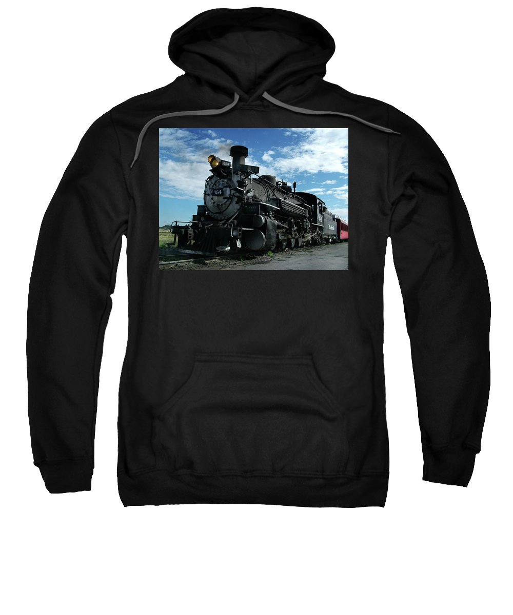 Steam Train Sweatshirt featuring the photograph My Best Side by Ken Smith