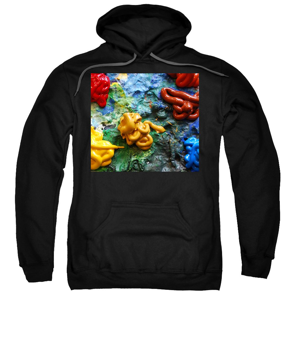 Palette Sweatshirt featuring the photograph My Colorful Palette by Nancy Mueller
