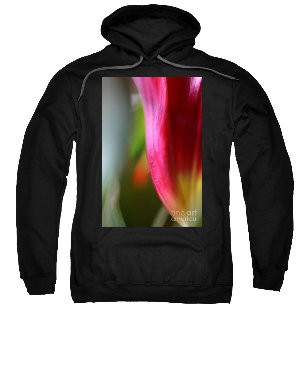 Tulip Sweatshirt featuring the photograph My Cup Overflows by Amanda Barcon