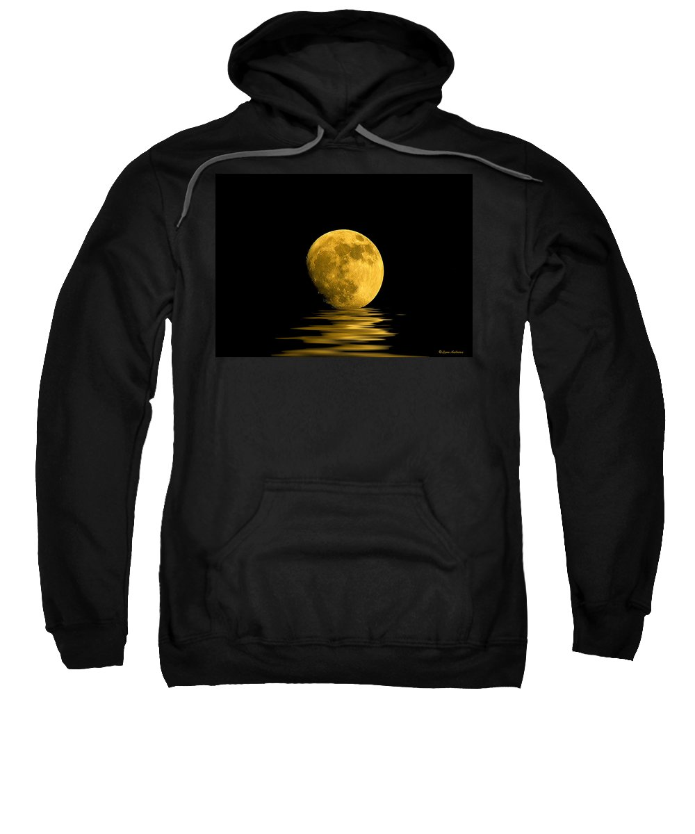 Moon Sweatshirt featuring the photograph My Harvest Moon by Lynn Andrews