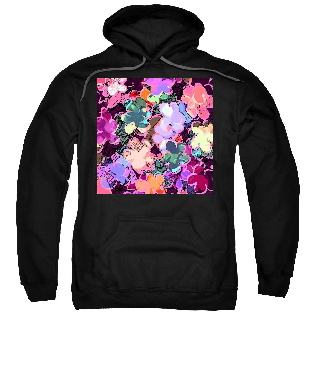 Abstract Sweatshirt featuring the digital art My Little World by Rachel Christine Nowicki