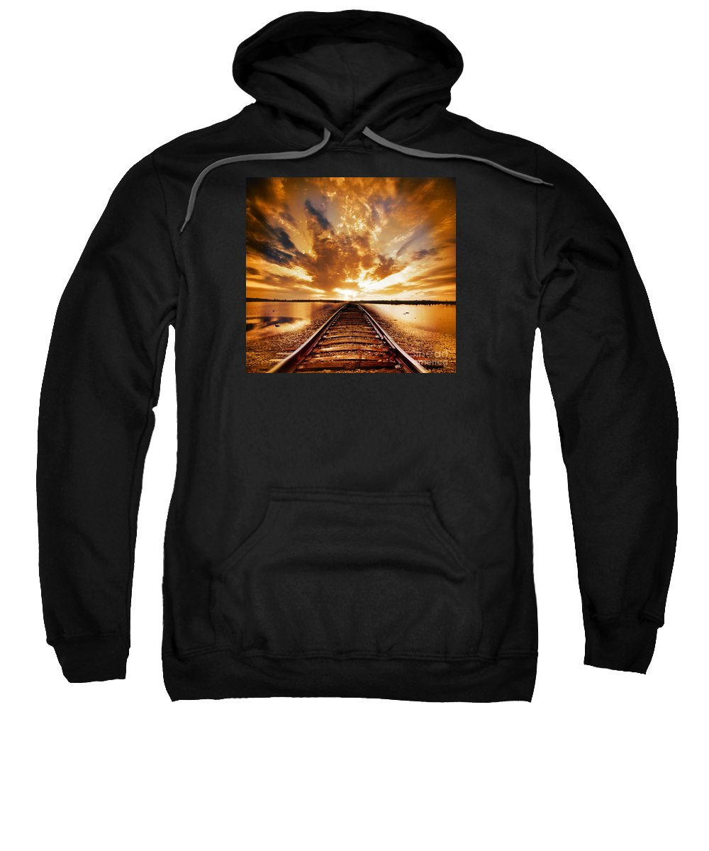 Water Sweatshirt featuring the photograph My Way by Jacky Gerritsen