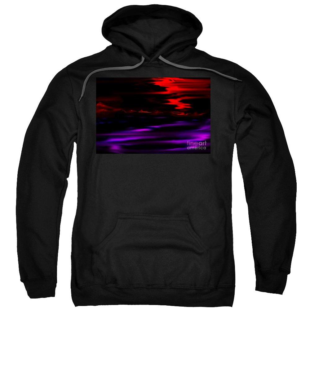Fantasy Sweatshirt featuring the digital art Mystery World by David Lane