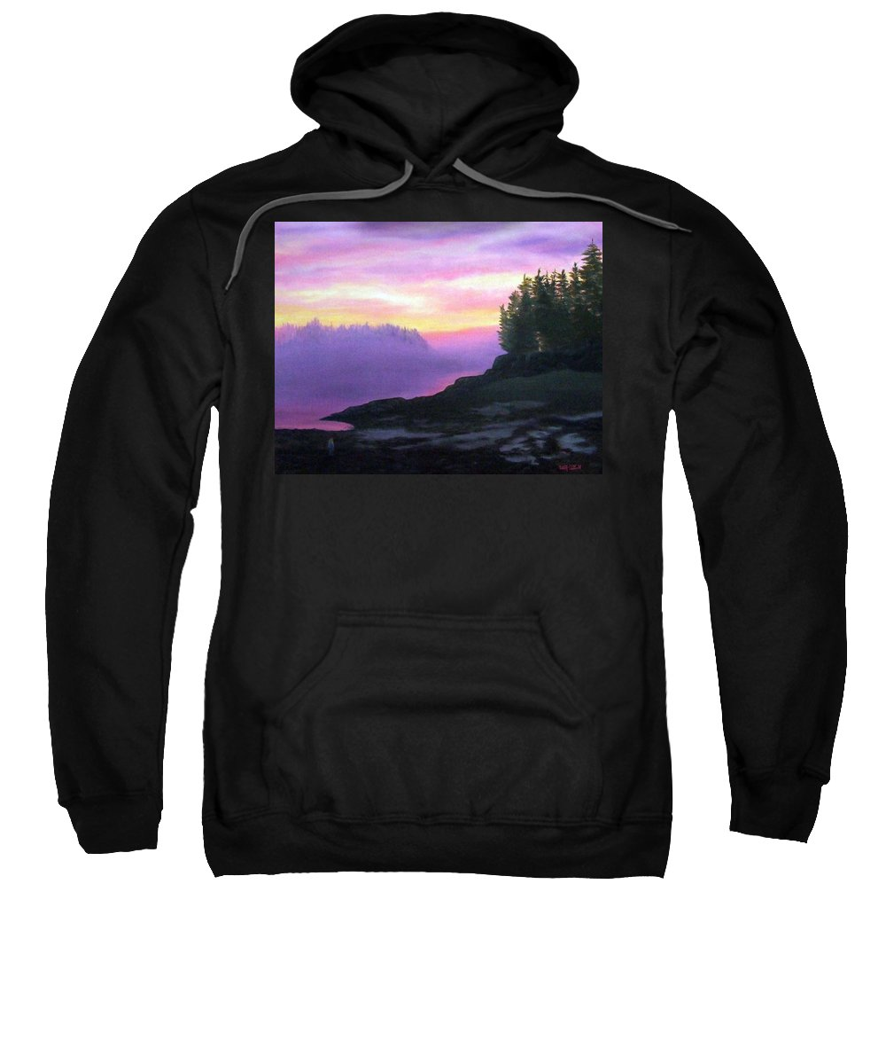 Sunset Sweatshirt featuring the painting Mystical Sunset by Sharon E Allen